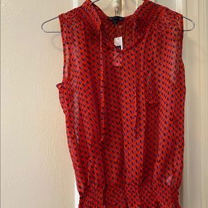 NEW GAP Red/Orange Blouse Size SMALL